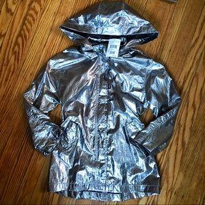 JouJou stylin' silver ⚡️ rain jacket!